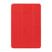【iPad mini4 ケース】LeatherLook SHELL with Front cover (レッド)
