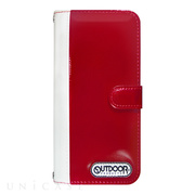 【iPhone6s/6 ケース】OUTDOOR Diary RedxWhite for iPhone6s/6