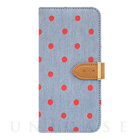 【iPhone6s/6 ケース】Denim Diary Dot Red for iPhone6s/6