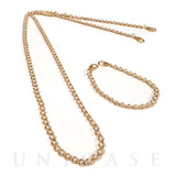 Shoulder Pearl Chain Gold