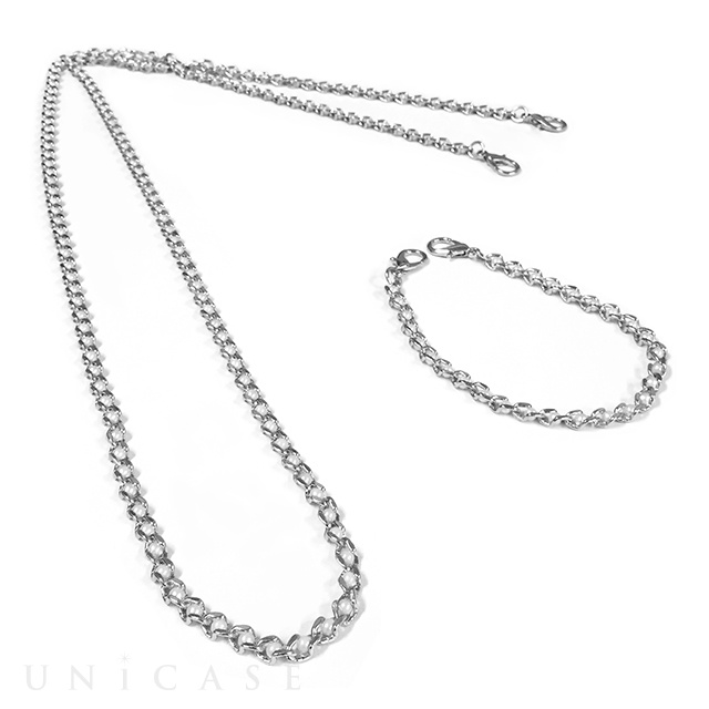 Shoulder Pearl Chain Silver