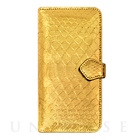 【iPhone6s/6 ケース】PYTHON Diary Gold for iPhone6s/6【手帳型 レザー】