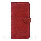 【iPhone6s/6 ケース】PYTHON Diary Red for iPhone6s/6【手帳型 レザー】