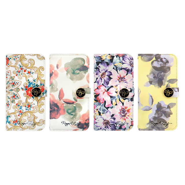【iPhone6s/6 ケース 手帳型】ROYAL PARTY Diary Water Flower WH for iPhone6s/6サブ画像