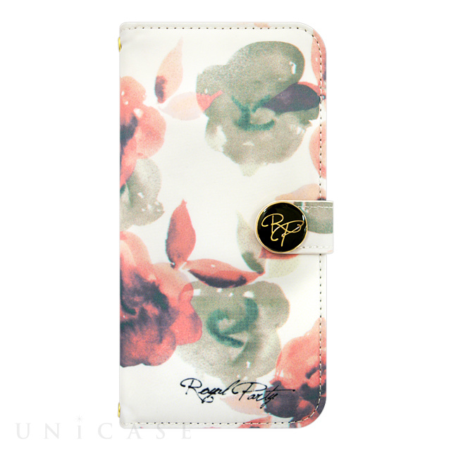 【iPhone6s/6 ケース】ROYAL PARTY Diary Water Flower WH for iPhone6s/6