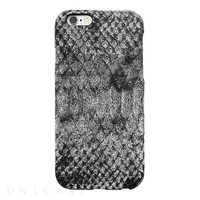 【iPhone6s/6 ケース】PYTHON PU LEATHER Silver for iPhone6s/6