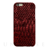 【iPhone6s/6 ケース】PYTHON PU LEATHER Red for iPhone6s/6