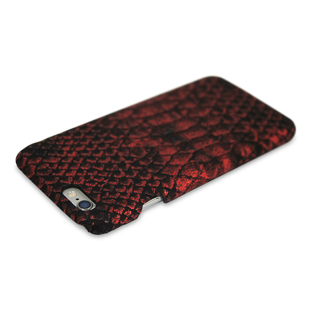 【iPhone6s/6 ケース】PYTHON PU LEATHER Red for iPhone6s/6サブ画像