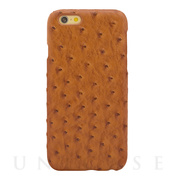 【iPhone6s/6 ケース】OSTRICH PU LEATHER Camel for iPhone6s/6