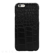 【iPhone6s/6 ケース】CROCODILE PU LEATHER Black for iPhone6s/6