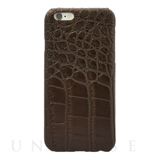 【限定】【iPhone6s/6 ケース】CROCODILE PU LEATHER Darkbrown