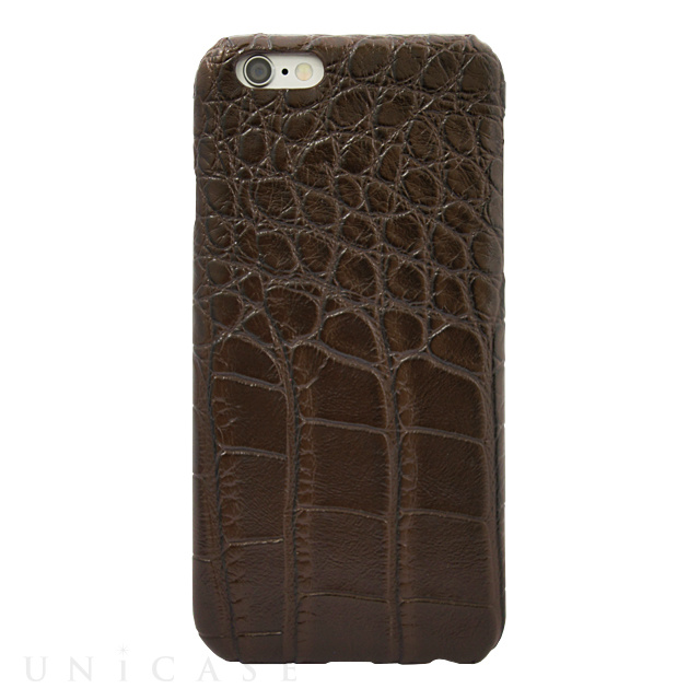 【iPhone6s/6 ケース】CROCODILE PU LEATHER Darkbrown for iPhone6s/6