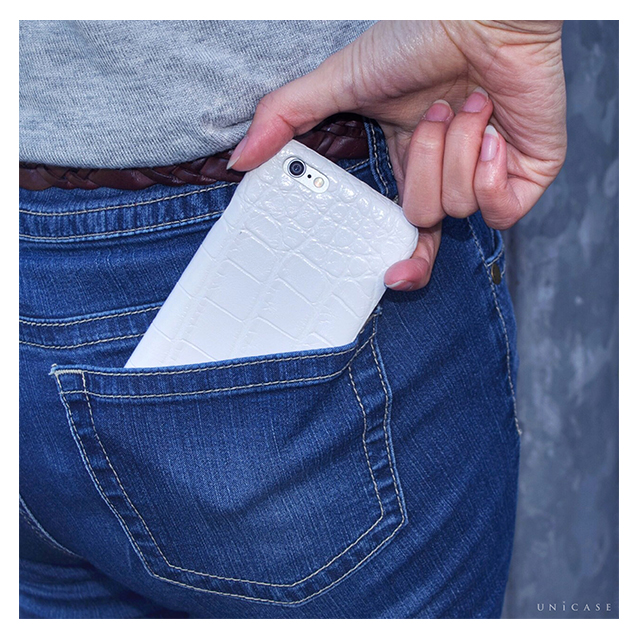 【iPhone6s/6 ケース】CROCODILE PU LEATHER White for iPhone6s/6