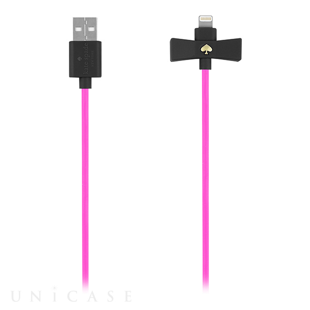 Bow Charge/Sync Cable - Captive Lightning (Black/Vivid Snapdragon)