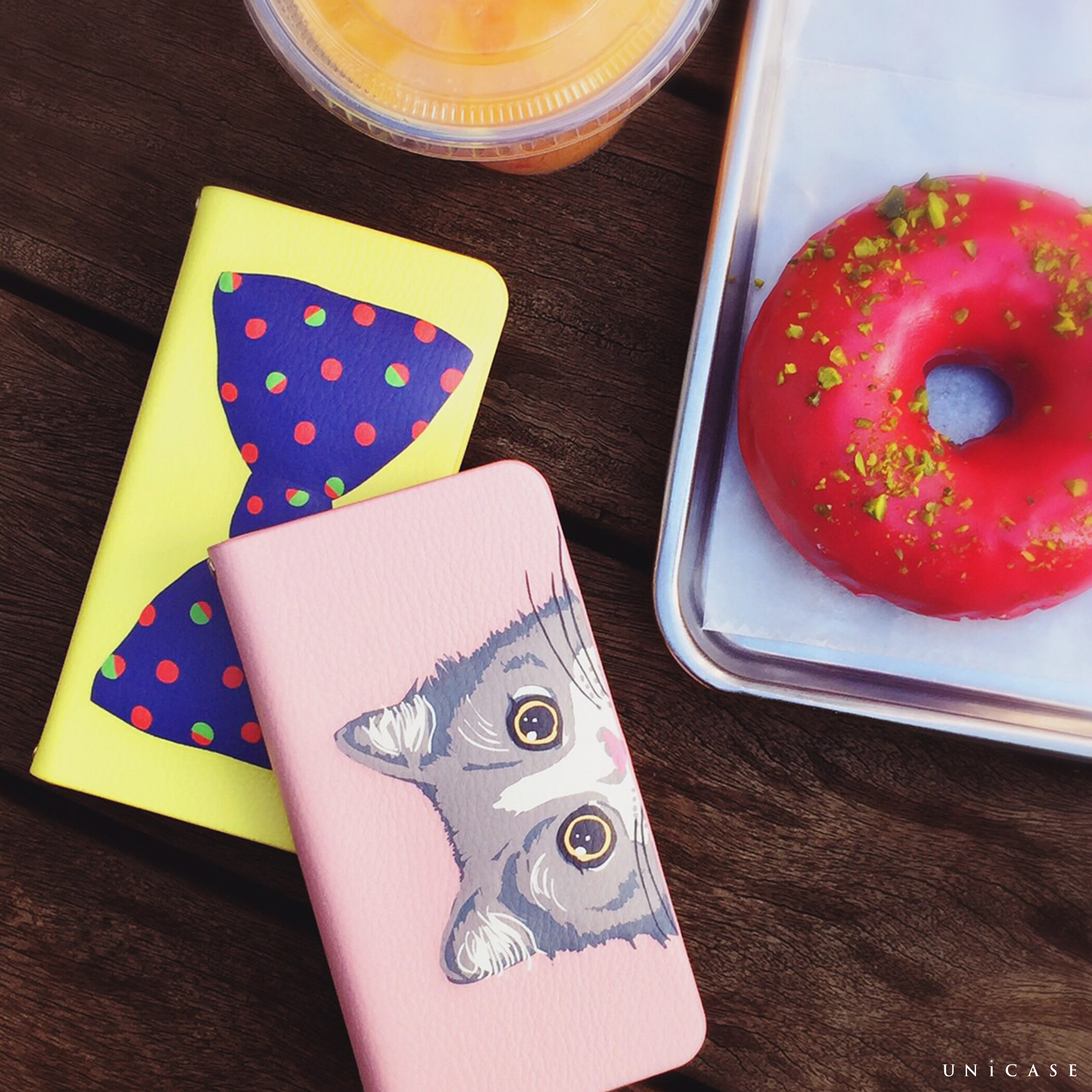 【iPhone6s/6 ケース】mag style Diary Stripe Ribbon for iPhone6s/6サブ画像