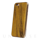 【iPhone6s/6 ケース】REAL WOODEN CASE COVER (サフランイエロー)
