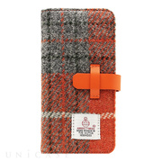 【iPhone6s/6 ケース】Harris Tweed Diary (オレンジ×グレー)