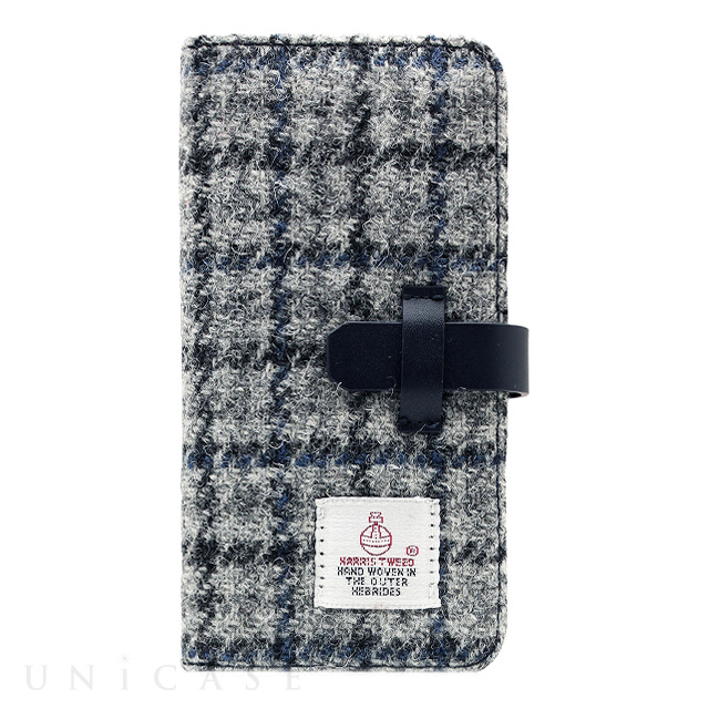 【iPhone6s/6 ケース】Harris Tweed Diary (グレー×ネイビー)