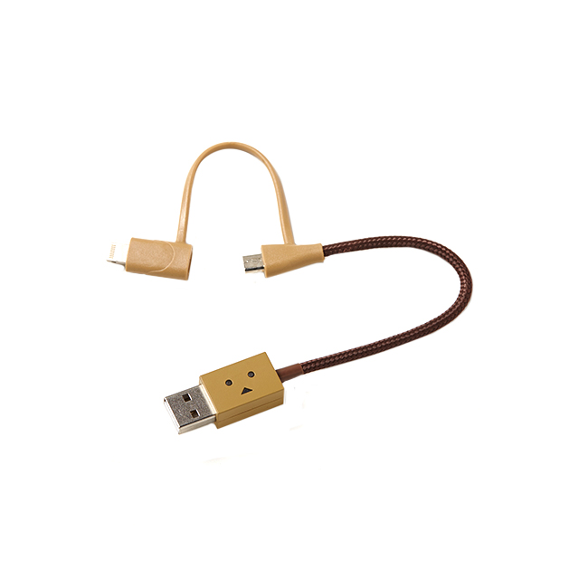 DANBOARD USB Cable with Lightning & micro USB connector (10cm)サブ画像