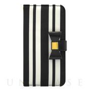 【iPhone6s/6 ケース】Ribbon Diary Stripe Black for iPhone6s/6