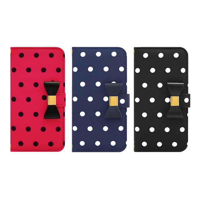 【iPhone6s/6 ケース】Ribbon Diary Dot Black for iPhone6s/6サブ画像