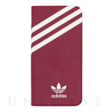 【iPhone6s/6 ケース】Suede Booklet Case (Red/White)