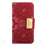 【iPhone6s/6 ケース】LAFINE Diary Paisley Red for iPhone6s/6