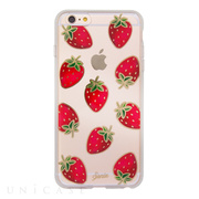 【iPhone6s Plus/6 Plus ケース】CLEAR (Strawberries Gold)