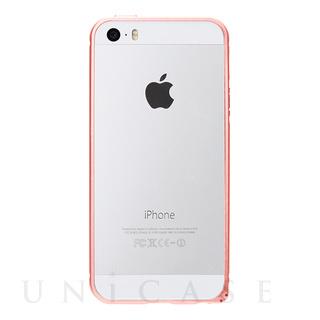 iPhoneSE/5s/5 ケース アルミバンパー (ピンクゴールド)