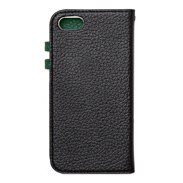 【iPhoneSE/5s/5 ケース】Color Edge Diary (Real Black)サブ画像