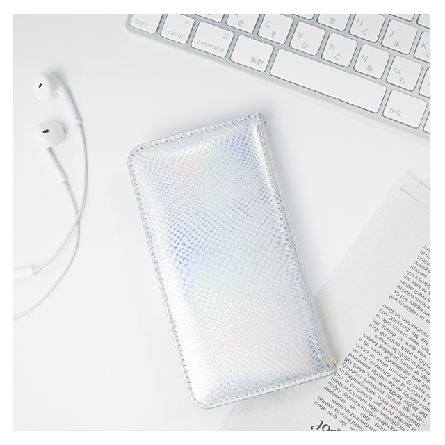 【iPhone6s/6 ケース】Hologram Diary Python Silver for iPhone6s/6サブ画像
