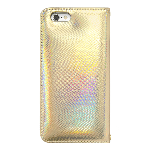 【iPhone6s/6 ケース】Hologram Diary Python Gold for iPhone6s/6サブ画像