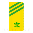 【iPhoneSE/5s/5 ケース】adidas Booklet Case (Yellow/Green)