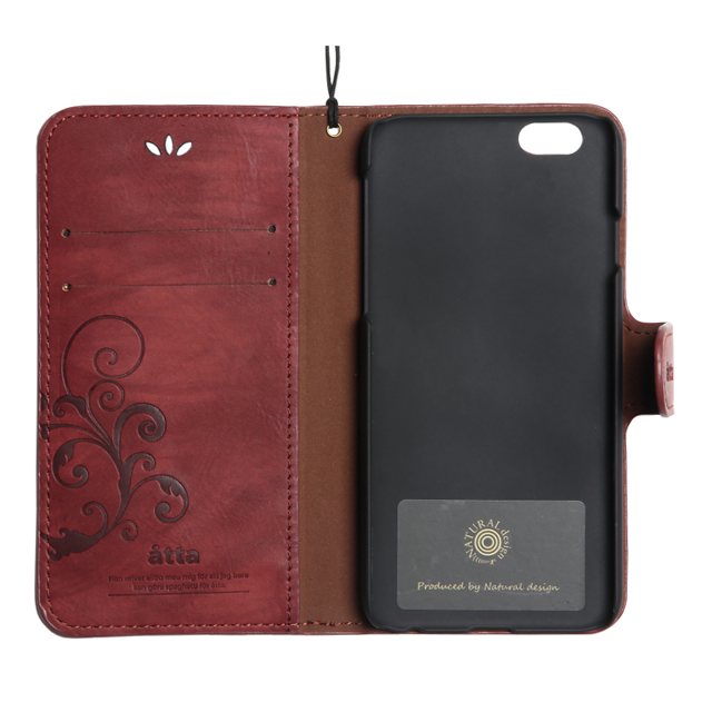 【iPhoneSE/5s/5 ケース】SMART COVER NOTEBOOK (Wine Red)