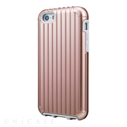 "【iPhoneSE/5s/5 ケース】""Rib"" Hybrid Case (Rose Gold)"
