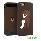 【iPhone6s/6 ケース】LINE Friends Character - Silicone (Brown)