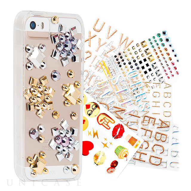 【iPhoneSE(第1世代)/5s/5 ケース】Hybrid Tough Naked CUSTOM Case (Clear) with over 250 unique stickers