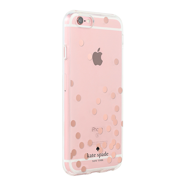 【iPhone6s/6 ケース】Hardshell Clear Case (Confetti Dot Rose Gold Foil/Clear)サブ画像