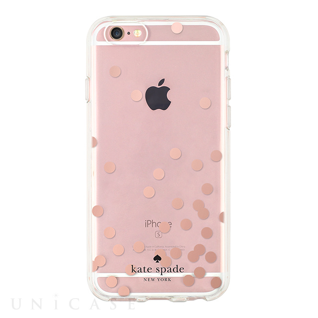 【iPhone6s/6 ケース】Hardshell Clear Case (Confetti Dot Rose Gold Foil/Clear)