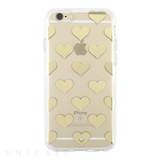 【iPhone6s/6 ケース】Flexible Hardshell (Hearts Gold Foil/Clear)