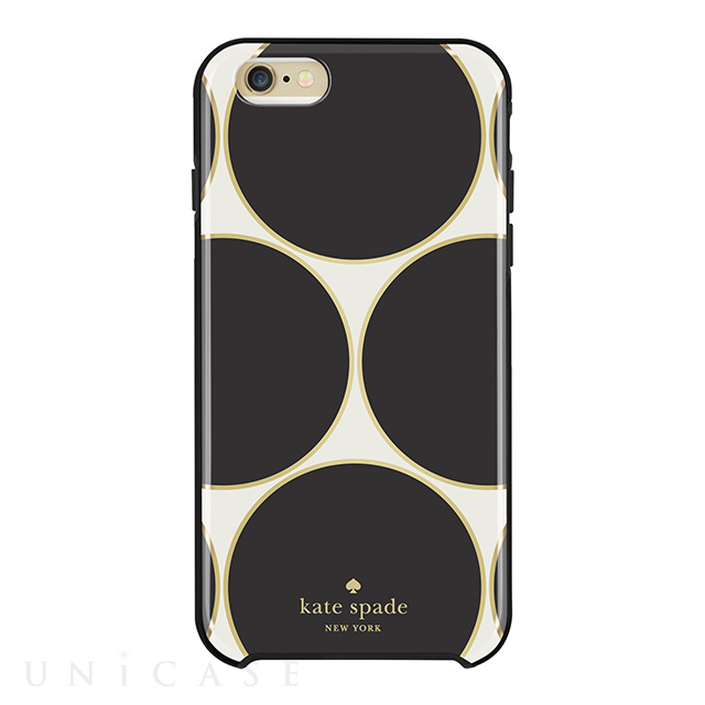 【iPhone6s Plus/6 Plus ケース】Hybrid Hardshell Case (Deborah Dot Cream/Black/Gold Foil)