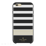 【iPhone6s Plus/6 Plus ケース】Hybrid Hardshell Case (Stripe 2 Black/White/Gold/Foil)