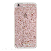 【iPhone6s Plus/6 Plus ケース】Clear Glitter Case (Rose Gold Glitter)