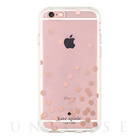 【iPhoneSE/5s/5 ケース】Hardshell Clear Case (Confetti Dot Rose Gold Foil/Clear)