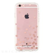 【iPhoneSE(第1世代)/5s/5 ケース】Hardshell Clear Case (Confetti Dot Rose Gold Foil/Clear)