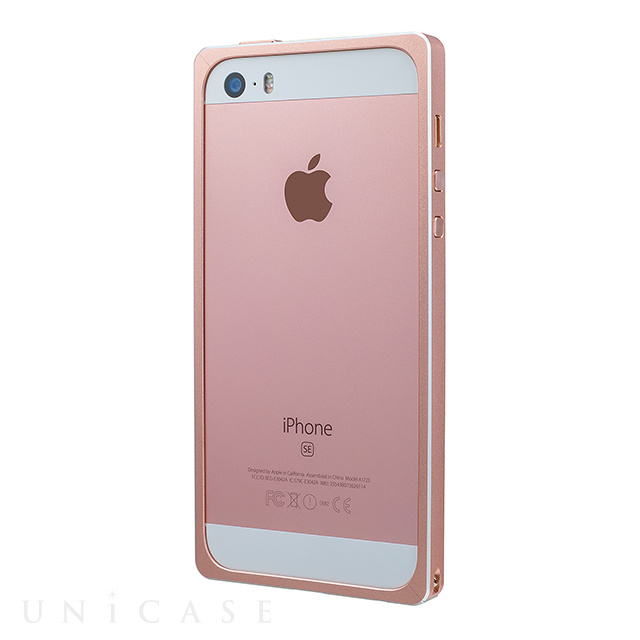 【iPhoneSE/5s/5 ケース】Straight Metal Bumper (Rose Gold)