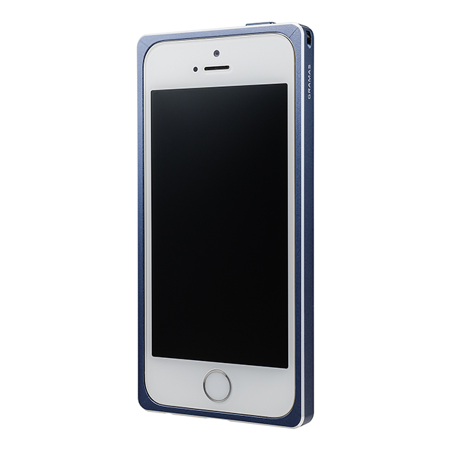 【iPhoneSE/5s/5 ケース】Straight Metal Bumper (Navy)サブ画像