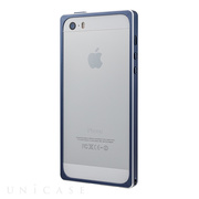 【iPhoneSE(第1世代)/5s/5 ケース】Straight Metal Bumper (Navy)