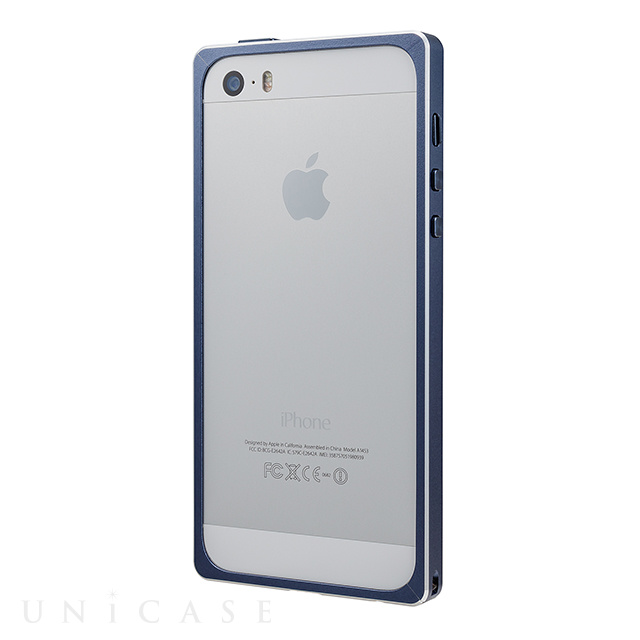 【iPhoneSE/5s/5 ケース】Straight Metal Bumper (Navy)