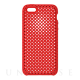 【iPhoneSE/5s/5 ケース】Mesh Case (Red)